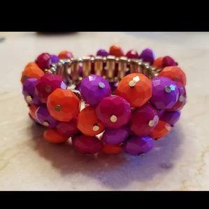 Jewelry - Bright Beaded Stretch Bangle Bracelet